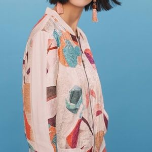 Anthropologie Geo Bomber Jacket M
